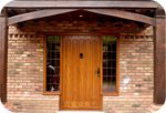 Example of solid oak front door
