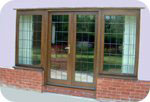 Example of glazed hardwood french doors